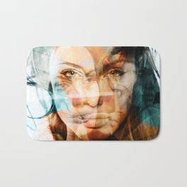faces of Angelina Jolie Bath Mat