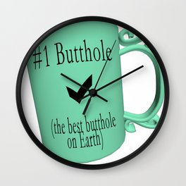 Number One Butthole Wall Clock
