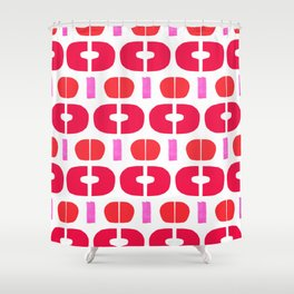 Abstract Collage Colorful Art Modern Simple Pink Red Shapes Shower Curtain