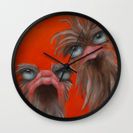 2 on Orange Wall Clock