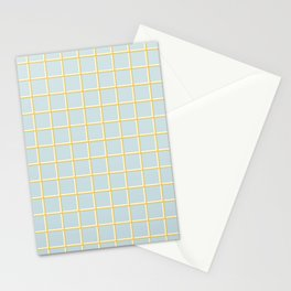 MINIMAL GRID BLUE Stationery Cards