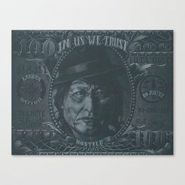 In Us We Trust Canvas Print