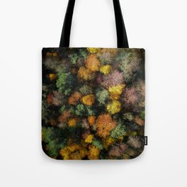 Autumn Forest - Aerial Photography Tote Bag