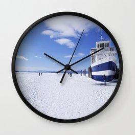 Frozen Ferry Wall Clock