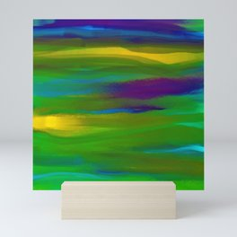 Green Mardi Gras Abstract Mini Art Print