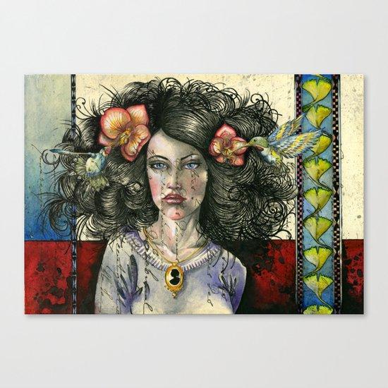 She Had Hummingbirds in Her Hair Canvas Print