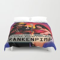 movie poster Duvet Covers featuring Frankenpimp (2009) - Movie Poster by Tex Watt