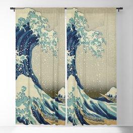 Great Wave Off Kanagawa (Kanagawa oki nami-ura or 神奈川沖浪裏) Blackout Curtain