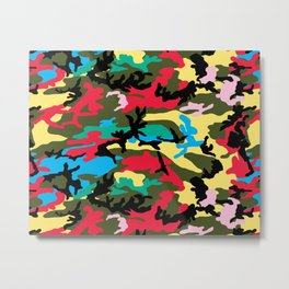 Multicolors Camouflage Metal Print