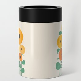 Sunflower and Bee Can Cooler