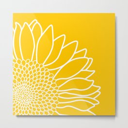 Sunflower Cheerfulness Metal Print