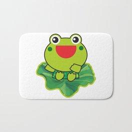 cute happy kero kerompa frog frogy Bath Mat