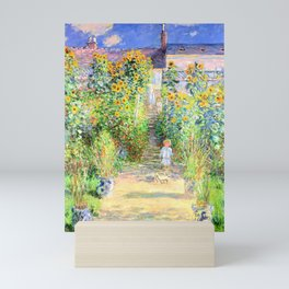 Monets Garden at Vetheuil Mini Art Print