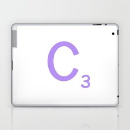 Letter C Scrabble Sign Purple Laptop & iPad Skin