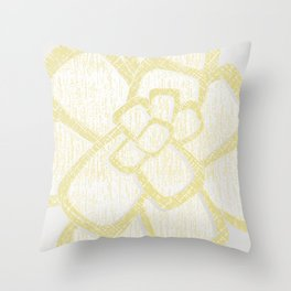 Brom yellow Throw Pillow