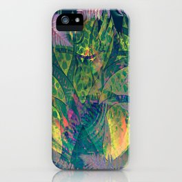 Abstract Floral Fern Tree Fairyland iPhone Case