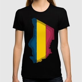 Chad Map with Chadian Flag T-shirt