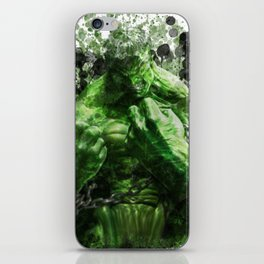 Green Hero iPhone Skin
