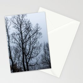 Naked tree in a foggy day Stationery Cards