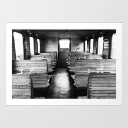 Old train compartment - Altes Zugabteil Art Print