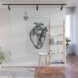 Ace Of Hearts - Mint Wall Mural