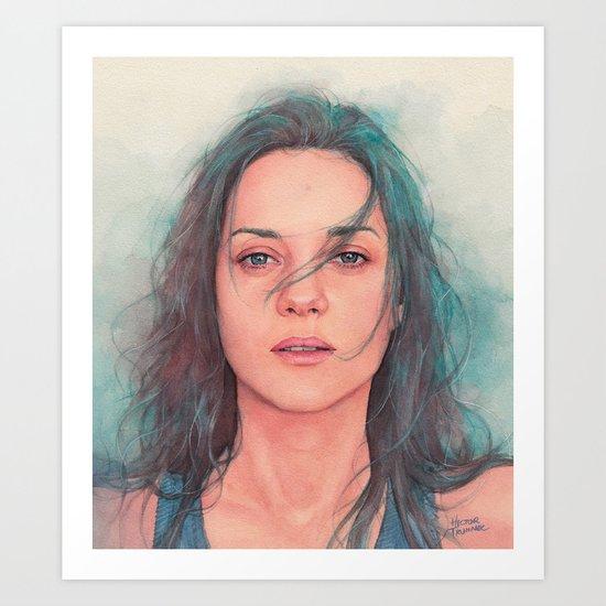 Marion Cotillard watercolor Art Print