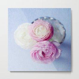 Summer Pastel Ranunculus Metal Print