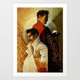 Gemini Zodiac Sign Dorian Pavus Art Print