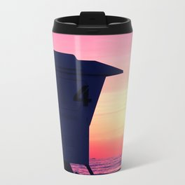 Mission Beach Sunset Metal Travel Mug