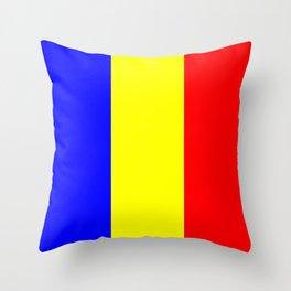 Flag of romania 2 -romania,romanian,balkan,bucharest,danube,romani,romana,bucuresti Throw Pillow