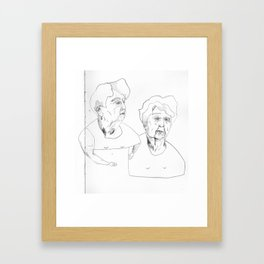 hanging out at the AE Framed Art Print