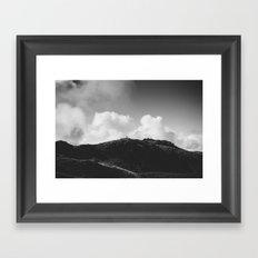 Lone Sheep on a Hill Framed Art Print