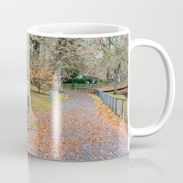 Empty park bench Coffee Mug