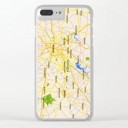 Georgia Map Design - USA map Clear iPhone Case