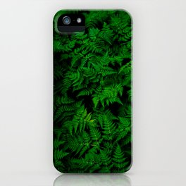 Deep Forest Ferns iPhone Case