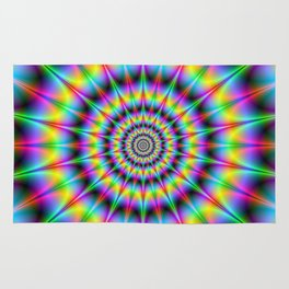 Spiked Psychedelic Rings Rug