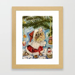 Puppy Chappie in the New Year's Suit Framed Art Print