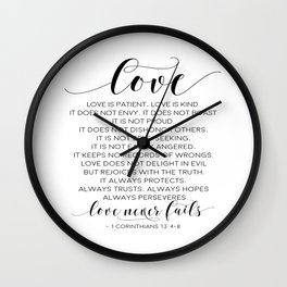 DEFINITION OF LOVE, Love Is Patient Love Is Kind,Love Quote,Love Art,Love Gift,Darling Gift,Love you Wall Clock