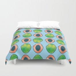 blue papaya Duvet Cover