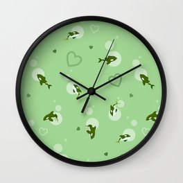 Green Orca Wall Clock
