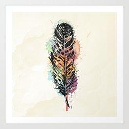 AP096 Watercolor feather Art Print