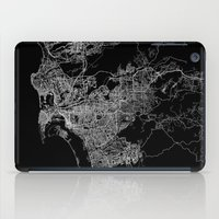 san diego iPad Cases featuring san diego map by Line Line Lines