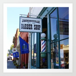 Jacksonville Barber Shop Art Print