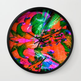 Worm Tumor Colony (Infected) Wall Clock