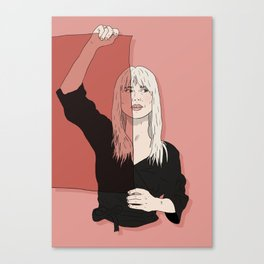 Rose-Colored Girl Canvas Print