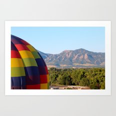 Up Up and Away in Boulder, Colorado Art Print