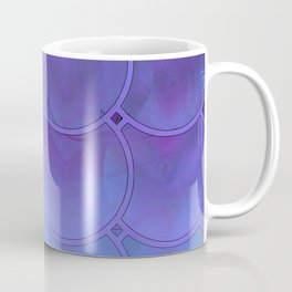 Mermaid Scales Purple and Blue Coffee Mug