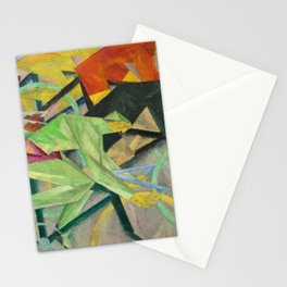 The Bicycle Race, the Grand Tour by Lyonel Feininger Stationery Cards