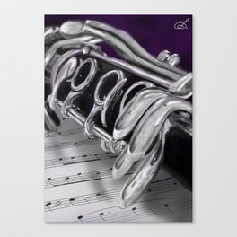 Close-Up Clarinet Art Print Canvas Print