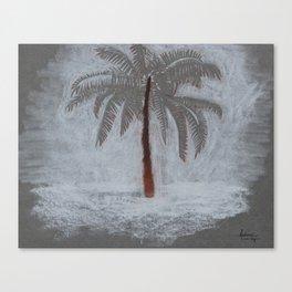 Sandy Palm Canvas Print